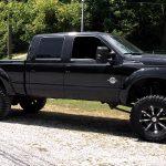 black and chrome truck rims